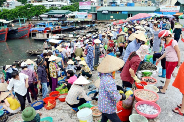 Ha Long Wharfs market 1 640x480 - HALONG BAY PRIVATE SHORE EXCURSIONS FROM HALONG BAY/ HANOI (CAI LAN), VIETNAM