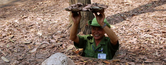 Tour Guide in Chi Chi Tunnels 760x300 640x480 - CU CHI TUNNELS PRIVATE SHORE EXCURSIONS FROM HO CHI MINH CITY (PHU MY), VIETNAM
