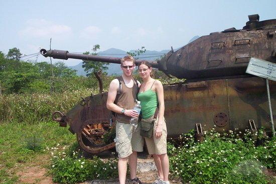 han and paul at khe sanh combat base hue 640x480 - DMZ VIETNAM PRIVATE TOUR